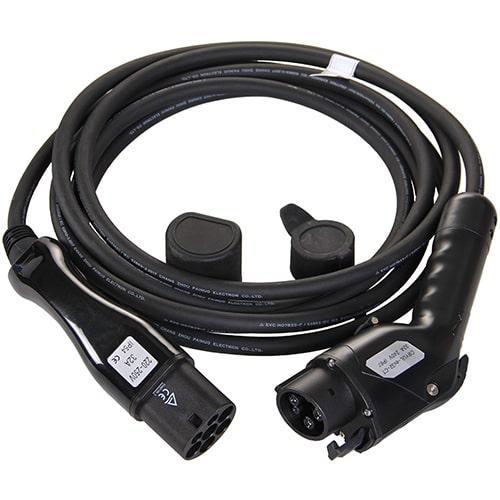 1-EV Type2 -> Type1 (32A) EV kabel