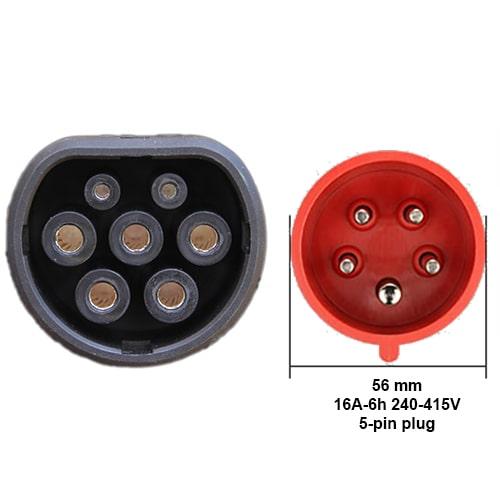 3-EV EVSE Type2 (3x16A) EV kabel