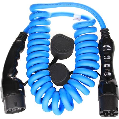 2-EV Type2 -> Type2 spiral (3x16A) EV kabel