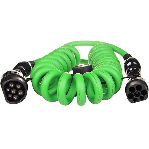 1-EV Type2 -> Type2 spiral (3x32A) EV kabel