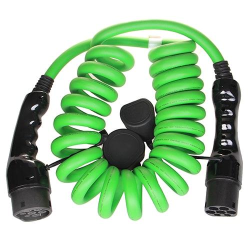 2-EV Type2 -> Type2 spiral (3x32A) EV kabel